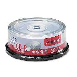 CD-R Discs 700MB80min 52x Spindle Silver Pack of 25 (IMN17333)
