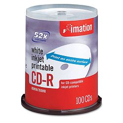CD-R Discs 700MB80min 52x Spindle Matte White Pack of 100 (IMN17334)