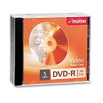 DVD-R Discs 4.7GB 16x with Jewel Cases Silver Pack of 5 (IMN17339)
