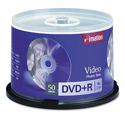 DVD+R Recordable Discs on Spindle 4.7GB Silver Pack of 50 (IMN17343)