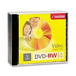 DVD-RW Discs 4.7GB 4x with Jewel Cases Silver Pack of 5 (IMN17345)