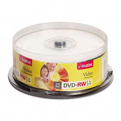 DVD-RW Discs 4.7GB 4x Spindle Silver Pack of 25 (IMN17346)