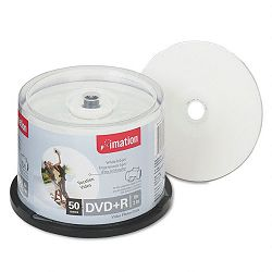 DVD+R Discs 4.7GB 16x Spindle White Pack of 50 (IMN17353)