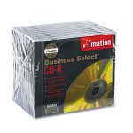 Business Select CD-R Discs 700MB80min 52x Jewel Cases Gold Pack of 10 (IMN17355)