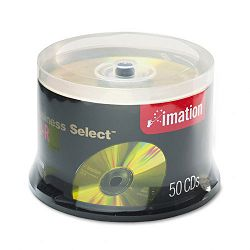 Business Select CD-R Discs 700MB80min 52x Spindle Gold Pack of 50 (IMN17357)