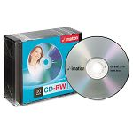 CD-RW Discs 700MB80min 4x with Slim Jewel Cases Silver Pack of 10 (IMN40955)