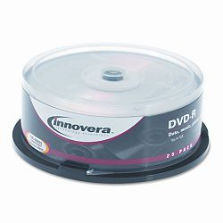DVD-R Discs 4.7GB 16x Spindle Silver Pack of 25 (IVR46825)