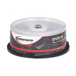 DVD+R Discs 4.7GB 16x Spindle Silver Pack of 25 (IVR46826)
