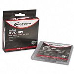 8cm Minidisc DVD-RW 1.4GB 2x with Jewel Case Silver Pack of 3 (IVR46833)