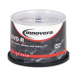 DVD-R Discs 4.7GB 16x Spindle Silver Pack of 50 (IVR46850)
