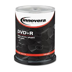 DVD+R Discs 4.7GB 16x Spindle Silver Pack of 100 (IVR46891)