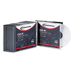 CD-R Discs 700MB80min 52x with Slim Cs Branded Silver 10Pk (IVR77910)