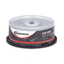 CD-RW Discs 700MB80min 12x Spindle Silver Pack of 25 (IVR78825)