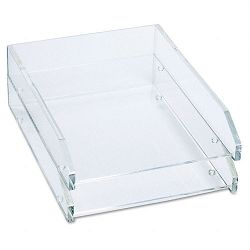 Double Letter Tray Two Tier Acrylic Clear (KTKAD15)