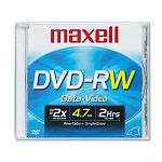 DVD-RW Disc 4.7GB 2x with Jewel Case Silver (MAX635114)