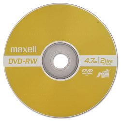 DVD-RW Discs 4.7 GB 2x with Jewel Cases Gold Pack of 3 (MAX635123)