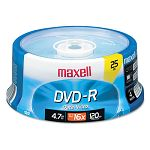 DVD-R Discs 4.7GB 16x Spindle Gold Pack of 25 (MAX638010)