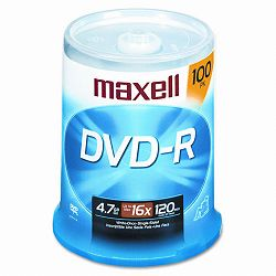 DVD-R Discs 4.7GB 16x Spindle Gold Pack of 100 (MAX638014)