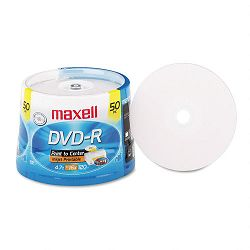 DVD-R Recordable Discs 4.7GB 16x Spindle White Pack of 50 (MAX638022)