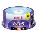 DVD+R Discs 4.7GB 16x Spindle Silver Pack of 25 (MAX639011)