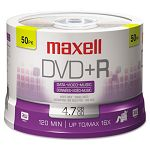 DVD+R Discs 4.7GB 16x Spindle Silver Pack of 50 (MAX639013)