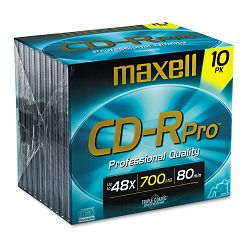 CD-R Discs 700MB80min 40x with Jewel Cases Gold Pack of 10 (MAX648410)