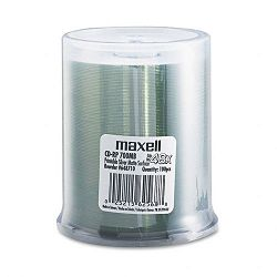 CD-R Discs 700MB80 min 48x Spindle Printable Matte Silver Pack of 100 (MAX648710)
