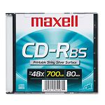 CD-R Disc 700MB80min 48x with Slim Jewel Case Shiny Silver (MAX648741)