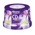 CD-R Discs 700MB80min 52x Spindle Silver Pack of 50 (MEM04563)