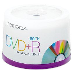 DVD+R Discs 4.7GB 16x Spindle Silver Pack of 50 (MEM05619)