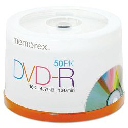 DVD-R Discs 4.7GB 16x Spindle Silver Pack of 50 (MEM05639)