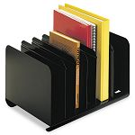 "Six-Section Adjustable Book Rack Steel 15 ""x 11"" x 8 78"" Black (MMF26413BRBLA)"