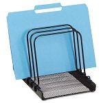"Mesh Flip File Folder Sorter Five Sections Black 7 .8"" x 1 78"" x 10.4"" (ROL1742323)"