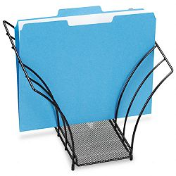 "Butterfly File Sorter Five Sections Mesh 12 14"" x 7 34"" x 10 18"" Black (ROL1742326)"