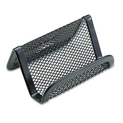 "Mesh Business Card Holder Capacity 50 2-14"" x 4""Cards Black (ROL22251ELD)"