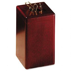"Wood Tones Paper Clip Holder Wood 2 18"" x 2 18"" x 3 12"" Mahogany (ROL23370)"