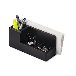 "Wood Tones Desk Organizer Wood 4 14"" x 8 34"" x 4 18"" Black (ROL62537)"