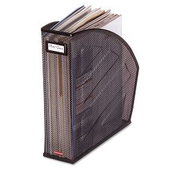 "Standard Rolled Mesh Steel Magazine File 4 78"" x 10 12"" x 11 34"" Black (ROL62559)"