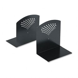 "Bookends Nonskid 10"" x 6 12"" x 10 12"" Heavy Gauge Steel Black (SAF3115BL)"