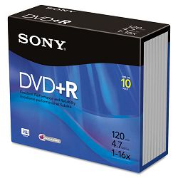 DVD+R Discs 4.7GB 16x Pack of 10 (SON10DPR47R4)