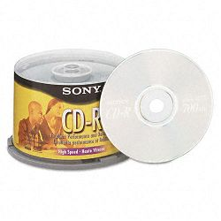 CD-R Discs 700MB80min 48x Spindle Silver Pack of 50 (SON50CDQ80RS)