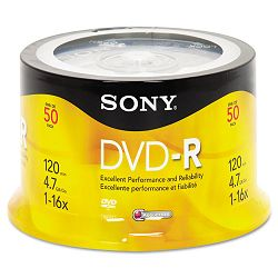 DVD-R Discs 4.7GB 16x Pack of 50 (SON50DMR47RS4)