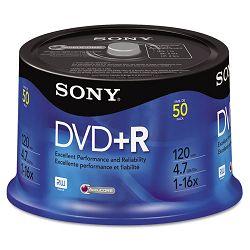 DVD+R Discs 4.7GB 16x Pack of 50 (SON50DPR47RS)