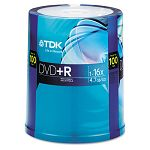 DVD+R Discs 4.7GB 16x Spindle Pack of 100 (TDK48521)