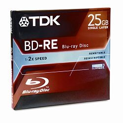 BD-RE DVD Disc 25GB 2x with Jewel Case White (TDK48699)