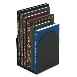 Bookends Magnetic 6 x 5 x 7 Metal Black (UNV54071)