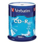 CD-R Discs 700MB80min 52x Spindle Silver Pack of 100 (VER94554)
