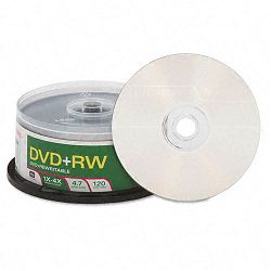 DVD+RW Discs 4.7GB 4x Spindle Pack of 30 (VER94834)