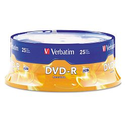DVD-R Discs 4.7GB 16x Spindle Matte Silver Pack of 25 (VER95058)