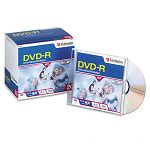 DVD-R Discs 4.7GB 16x with Slim Jewel Cases Matte Silver Pack of 20 (VER95069)